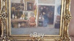 Tableau de cesare vianello 1862 1920 venise la boutique de l'antiquaire