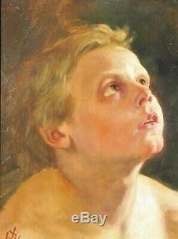 Tableau, enfant, portrait, Allemagne, Romantisme