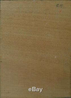 Tableau huile panneau paysage vers 1920 signée F Ehrlich