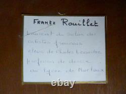 Tableau, huile sur bois, ville de Morlaix signée F Rouillet élève de Léandre No1