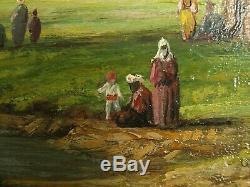 Tableau orientaliste, Les Eaux Douces d'Asie sur le Bosphore, par Ernst HUBER