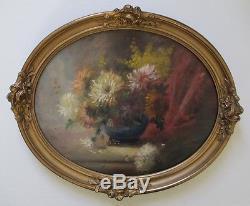 Tableau peinture Nature morte aux fleurs 1900 Huile sur bois Impressionnisme
