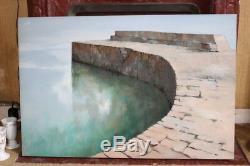Tableau peinture à l'huile Harbour curve du peintre anglais Michael J PRAED