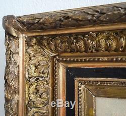 Tableau/peinture sur panneau, marine signée C. KUSNER, très beau cadre, XIX ème
