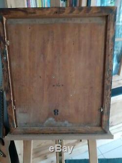 Tableau portrait huile sur panneau bois homme XIXème 19ème (eugene baudin)