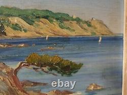 Tableau provençal Cap Cepet Saint Mandrier signature à identifier