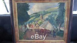Tableau raimond lecourt paysan à orcival (puy de dome) 5747