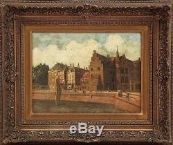 Tableau signé école hollandaise huile sur bois XIXème siècle Picture 19th