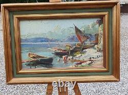 Tableaux Barques de pécheurs Paul Jouvet peintre dauphinois