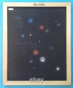 Thilo MAATSCH (1900-1983) Tableau HST Huile 1977 Abstraction Constructivisme