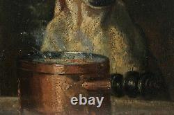 UN FIN GOURMET! Louis Godefroy JADIN (1805-1882), chien 1855, dogue, cuisine