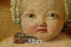 Un Beau Bébé! 1780, Superbe Petit Portrait d'Enfant d'Epoque Louis XVI
