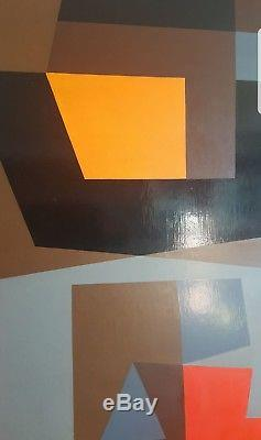 Victor NOEL (1916-2006) Abstraction géométrique belge. Cubiste Constructiviste