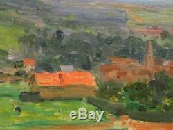 Vue de Bièvre, environs de Paris 1909. Tableau d'Alexis Demarle (1872-1940)